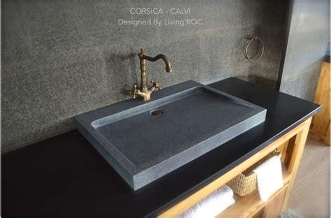 concrete trough sink 27 quot gray granite bathroom sink corsica