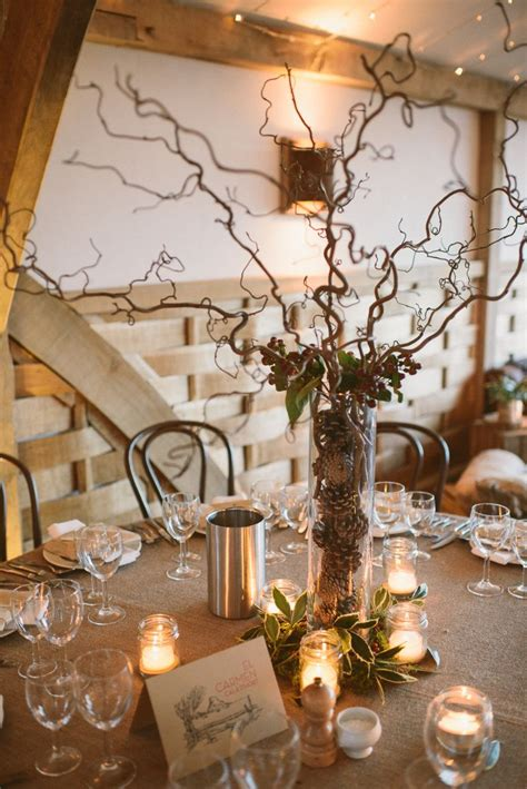 a rustic winter wedding at cripps barn with diy home made