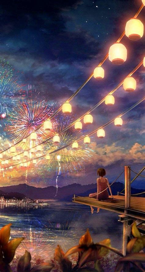 Pretty Anime Wallpaper - anime beautiful colorful favorites firework