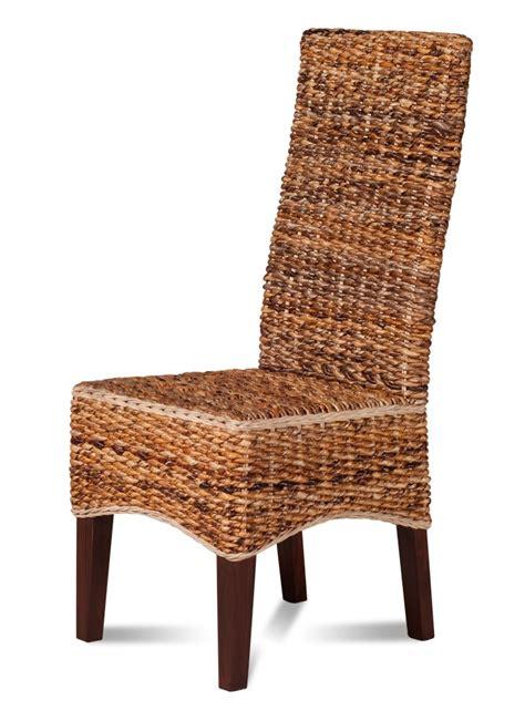 light rattan dining chair dark mahogany wood legs casa