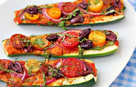 Zucchini Pizza Boats In Oven by Zucchini Pizza Boats Oc Digital