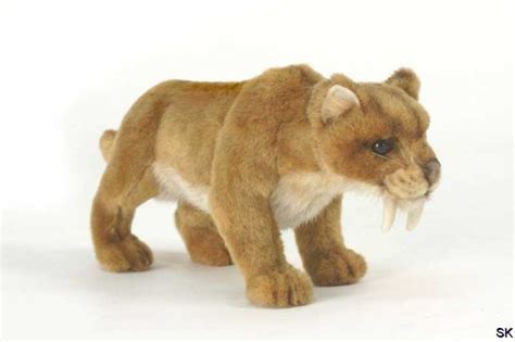 plueschtier saebelzahntiger smilodon