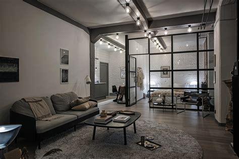 interior designer homes industrial loft with beige details coco lapine