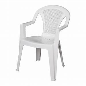 Chaise Jardin Plastique : chaise de jardin en plastique blanc ~ Teatrodelosmanantiales.com Idées de Décoration