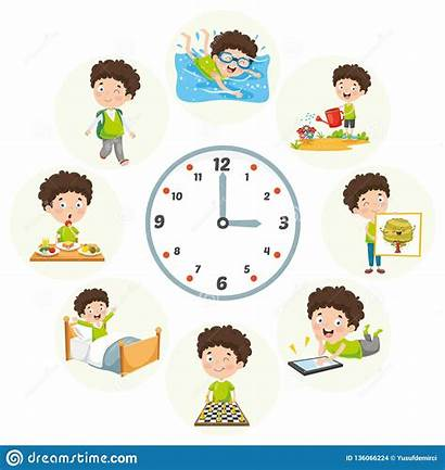 Routine Vector Activities Daily Illustration Personal Clean