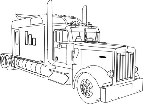 Truck And Trailer Coloring Pages Educational Coloring Pages
