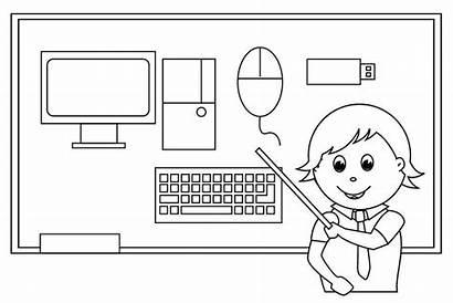 Computer Coloring Parts Sheet Mouse Dibujos Colorear