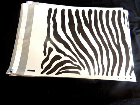 decorative flat poly mailers 20 pack 12 x15 zebra decorative poly mailers flat zebra