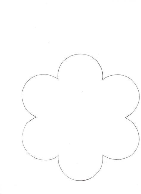 Burlap Flower Template by 6 Petal Flower Template All Patterns