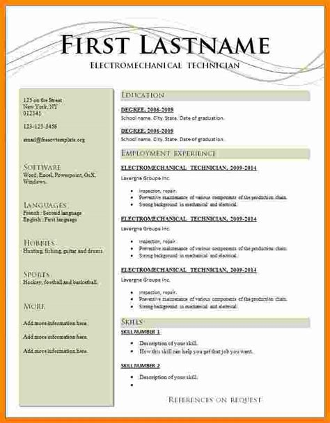 Professional Resume Templates Free by 5 Cv Format Professional Free Theorynpractice