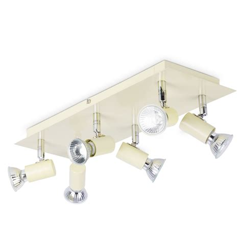 led kitchen flood lights modern gloss and chrome 6 way kitchen ceiling spot 6906