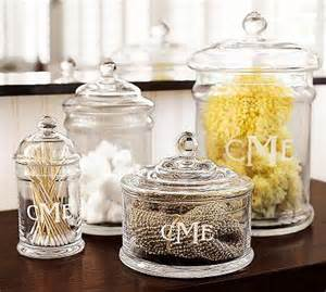 clear classic glass canister