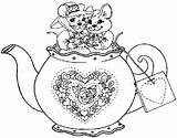 Coloring Pages Tea Kettle Teapot Adult Disney Pyrography Patterns Sketch Sketchite Template Cup Drawings Simple Sketches Memory sketch template