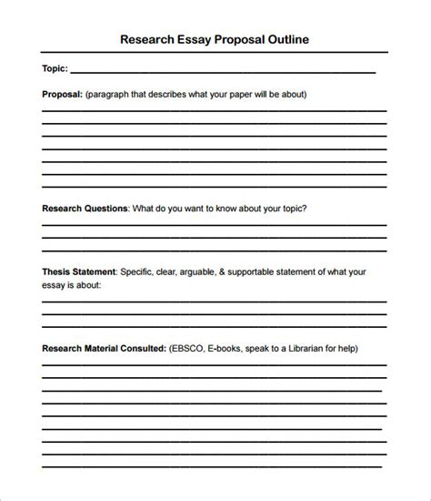 how to write a proposal essay outline proposal outline templates 20 free free word pdf