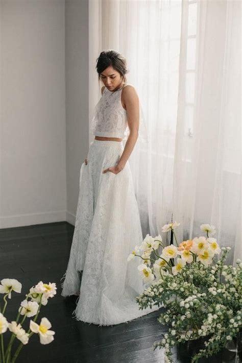 effortlessly chic wedding dresses  pockets