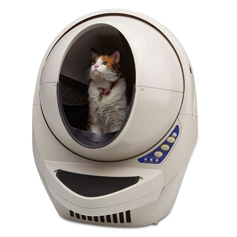 electric cat litter box the best automatic cat litter box hammacher schlemmer