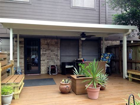 standing aluminum patio cover  clear lake tx