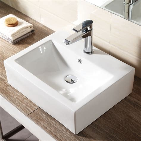 New Bathroom Sink by New Rectangle Counter Top Basin Sink Unit Ceramic Suit