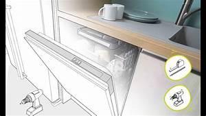 Poser Une Cuisine : cuisine quip e poser un lave vaisselle en vid o youtube ~ Melissatoandfro.com Idées de Décoration