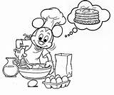 Pancake Coloring Pancakes Pages Crepes Coloriages Theme Colors Coloringkids sketch template