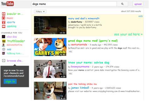 Youtube Doge Meme - youtube easter egg for doge meme