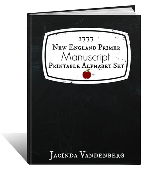 england primer manuscript printable alphabet set
