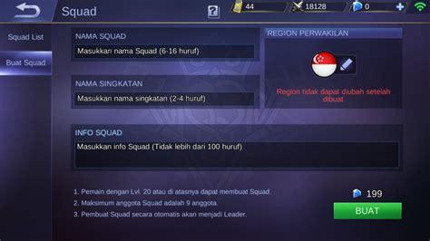 cara ngecheat mobile legend cara membuat squad mobile legend gratis