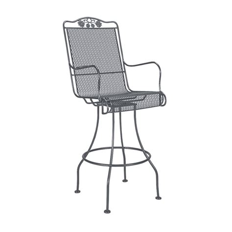 woodard briarwood wrought iron swivel bar stool 400388
