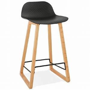 Tabouret De Bar Noir : tabouret de bar chaise de bar mi hauteur scandinave ~ Melissatoandfro.com Idées de Décoration