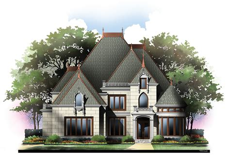 Chateau House Plans by Chateau House Plans Country House Plans
