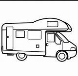 Coloring Colorear Camping Camper Transporte Campers Truck Dibujos Medios Transportes Pictogramas Coches Doodle Drawing Aviones Trenes Barcos Educacion Tren Lapiz sketch template