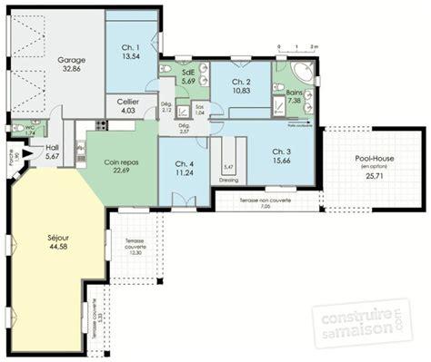 plan maison en l plain pied villa de plain pied d 233 du plan de villa de plain pied faire construire sa maison