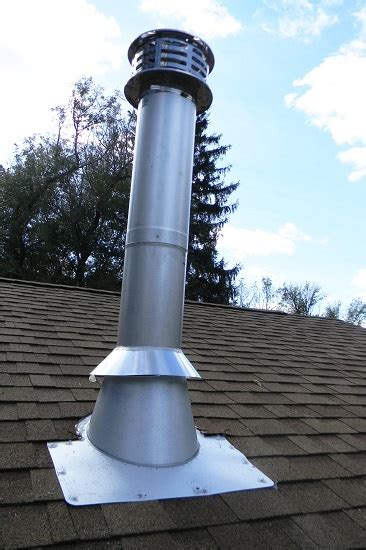 chimney pipe installation  wood stoves   flat