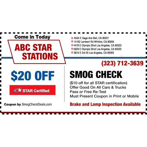 brake and l inspection near me abc smog check star station in bell ca 90201 citysearch