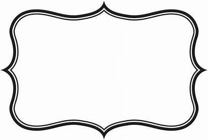 Frame Clipart Rectangle Label Outline Cliparts Frames