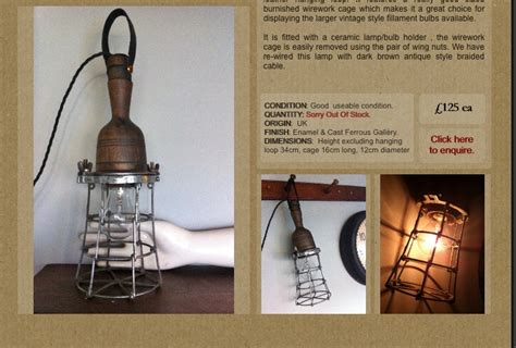 Vintage Brass Lamp by Vintage Inspection Lamps Gallery