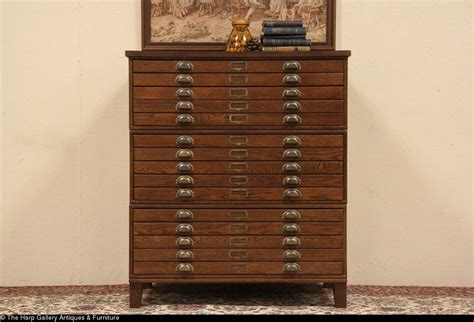 Kitchen Cabinet Makeover Ideas - exceptional map drawer cabinet 9 sold oak map chest file or document cabinet 15 drawers harp