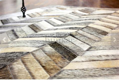Chevron Cowhide Rug by Grey Chevron Cowhide Leather Rug Anima And Amare