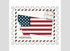 Montana postage stamp Vector Image 1550826 StockUnlimited