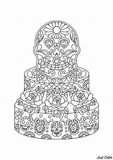 Coloring Pages Mexican Cake Adults Cakes Skulls Cupcakes Cup Muertos Dia Bring Los Many Sachdeva Sachin Adult Justcolor sketch template