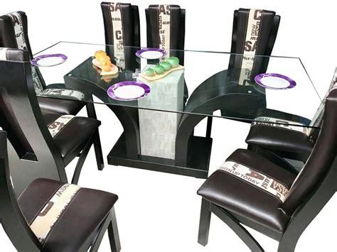 mesa comedor de vidrio templado comedor 6 sillas moderno minimalista mesa vidrio templado