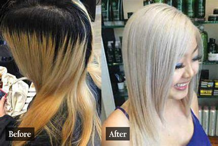 Shimmer Lights Shoo Before And After by Platinum Behindthechair