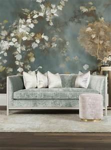 1001 idees pour un salon moderne de luxe comment rendre With tapis champ de fleurs avec canapé tissu bleu canard