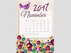 Noviembre Calendario 2017 · Imagen gratis en Pixabay