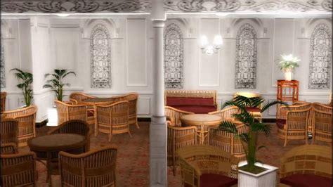 reception room  deck titanic sims youtube