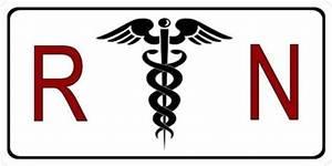 White Medical RN Registered Nurse Caduceus Logo Symbol ...