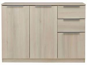 Meuble Rangement Papier Conforama : rangement 3 portes 2 tiroirs spicy coloris acacia vente ~ Dailycaller-alerts.com Idées de Décoration