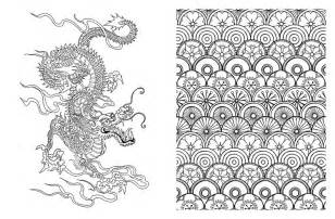 japan design coloring book coloring pages