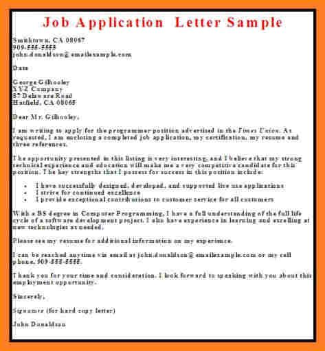 Chef Cover Letter 9 Sles If Application Letter In Nigeria Basic Appication Letter