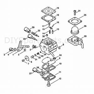 Stihl Hl 45 Long Reach Hedgetrimmer  Hl45  Parts Diagram